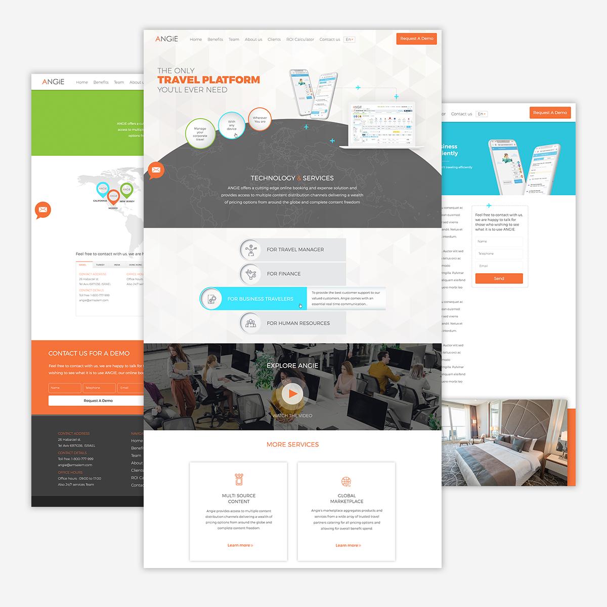 עיצוב אתר אנג׳י