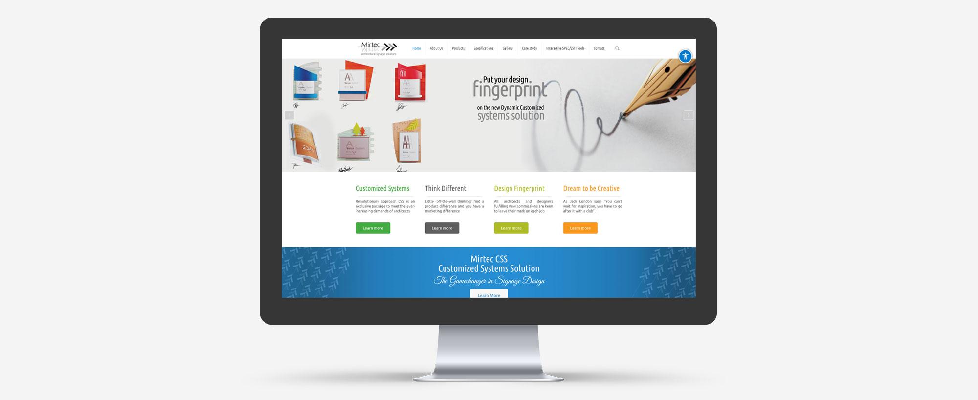עיצוב ובניית אתר לחברת שילוט